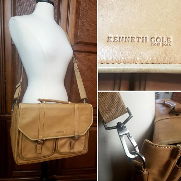Kenneth Cole Leather messenger computer bag